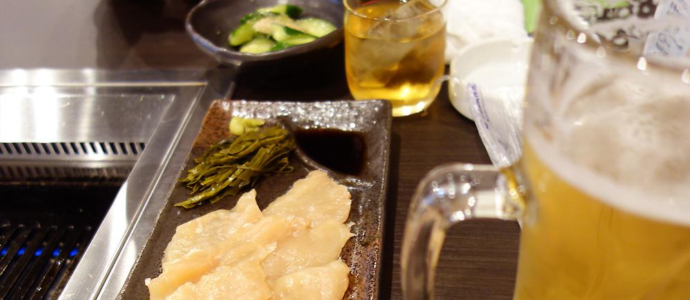 仁和鶏さんの やみつきキュウリと 昆布ジメ鶏 梅酒と生中