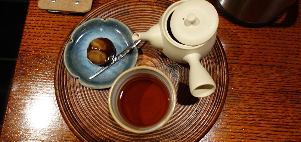 一保堂茶舗京都本店さんの喫茶室 嘉木さんのほうじ茶