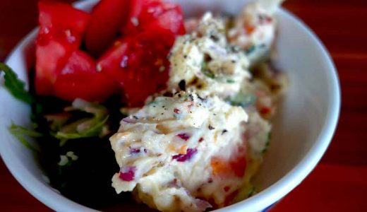 鶏肩肉で唐揚げとポテトサラダで夕飯